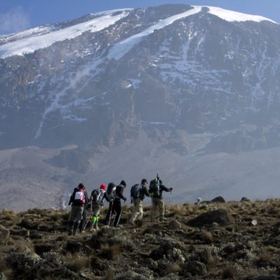 Filming on Kilimanjaro