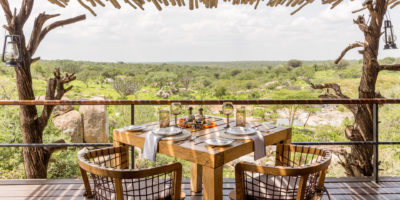 Mwiba River Lodge - Breakfast Table Overlooking-the-river